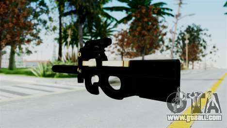 P90 Gold Silenced for GTA San Andreas second screenshot