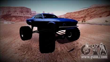 1970 Ford Mustang Boss Monster Truck for GTA San Andreas interior