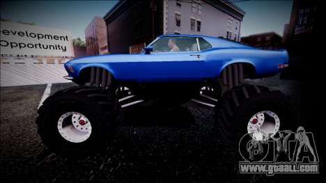 1970 Ford Mustang Boss Monster Truck for GTA San Andreas