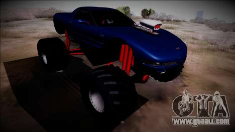 Chevrolet Corvette C5 Monster Truck for GTA San Andreas back view
