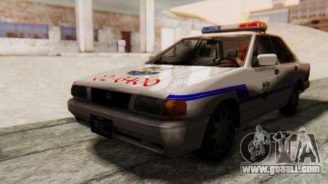 Nissan Sentra B13 2004 Patrol with a Salvadoran  for GTA San Andreas back left view
