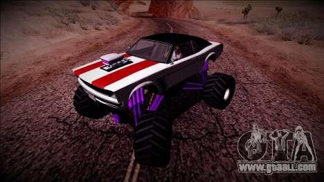 GTA 5 Declasse Tampa Monster Truck for GTA San Andreas back view