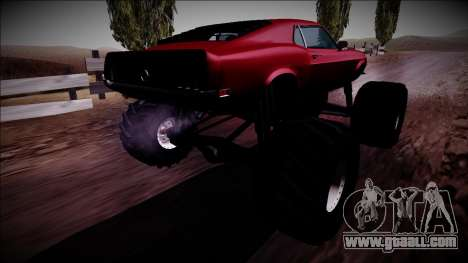 1970 Ford Mustang Boss Monster Truck for GTA San Andreas left view