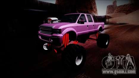 GTA 5 Vapid Sadler Monster Truck for GTA San Andreas bottom view