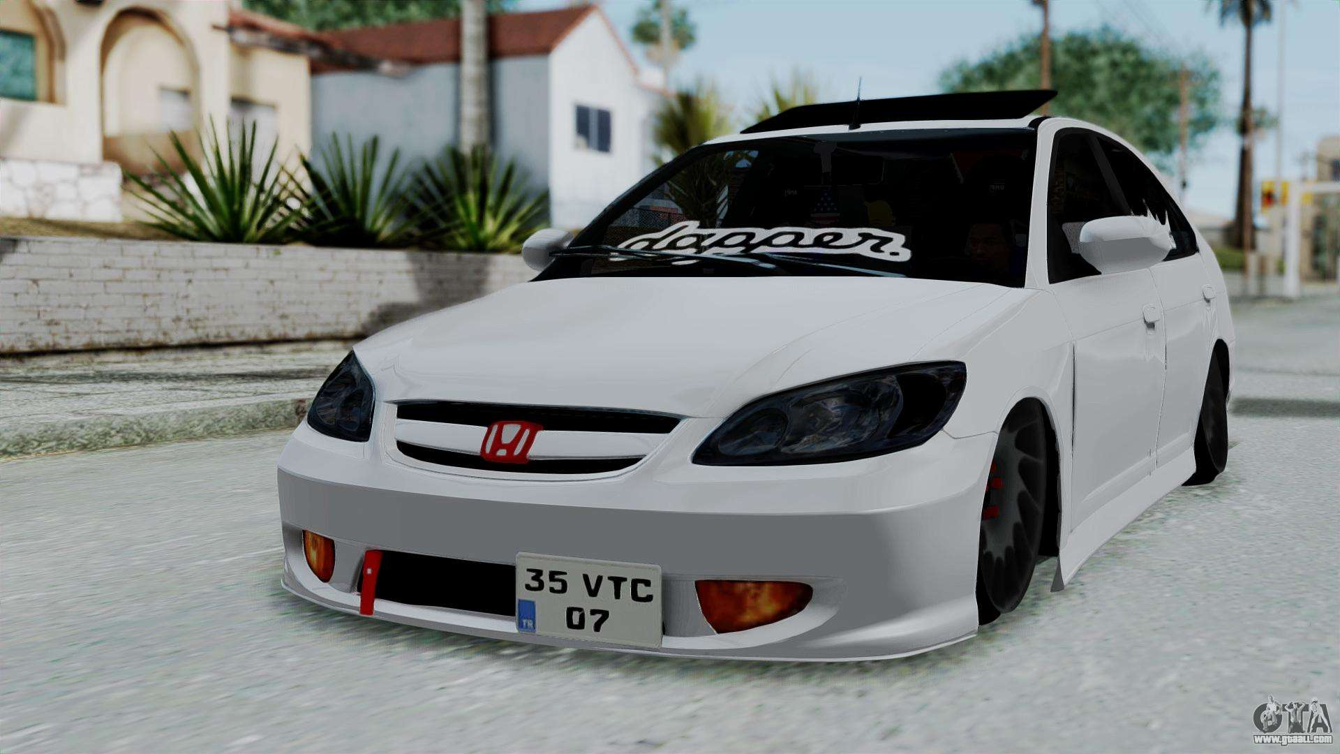 honda civic vtec special for gta san andreas. Black Bedroom Furniture Sets. Home Design Ideas