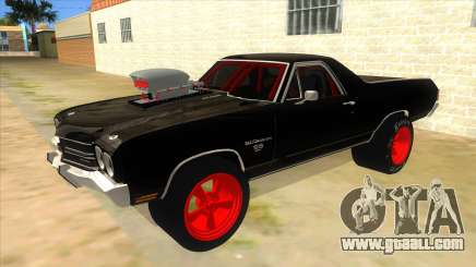 1970 Chevrolet El Camino SS Drag for GTA San Andreas