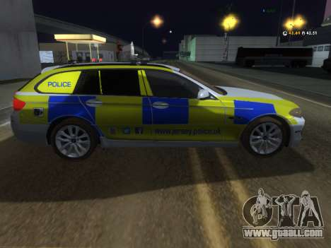 Jersey Police BMW 530d Touring for GTA San Andreas back left view