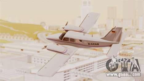 Piper Seneca II for GTA San Andreas left view