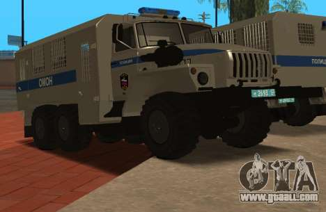 Ural 4320 riot police for GTA San Andreas