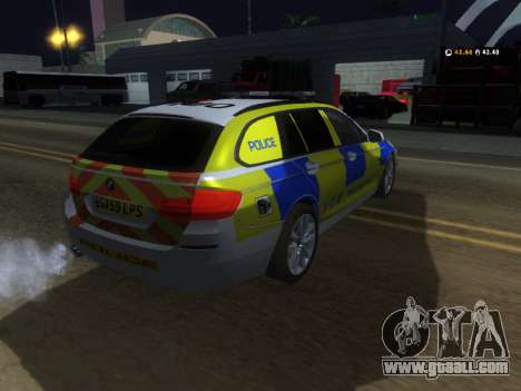 Jersey Police BMW 530d Touring for GTA San Andreas right view