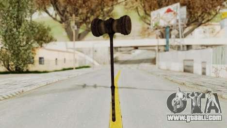 Skyrim Iron Warhammer for GTA San Andreas