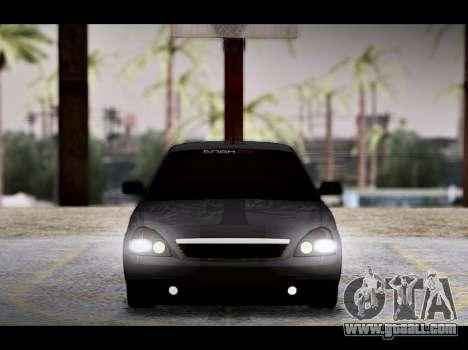 Lada Priora Bpan Version for GTA San Andreas bottom view