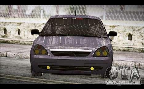 Lada Priora Bpan Version for GTA San Andreas back left view