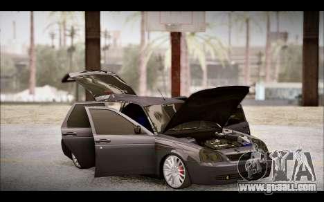 Lada Priora Bpan Version for GTA San Andreas upper view