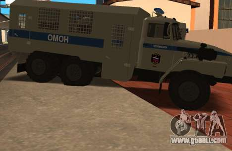 Ural 4320 riot police for GTA San Andreas left view
