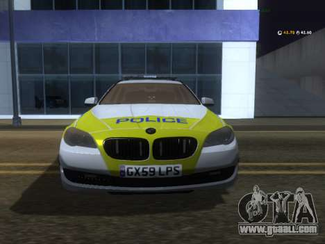 Jersey Police BMW 530d Touring for GTA San Andreas left view