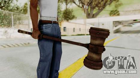 Skyrim Iron Warhammer for GTA San Andreas second screenshot
