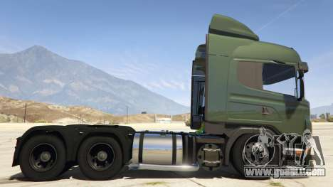 GTA 5 Scania R440 left side view