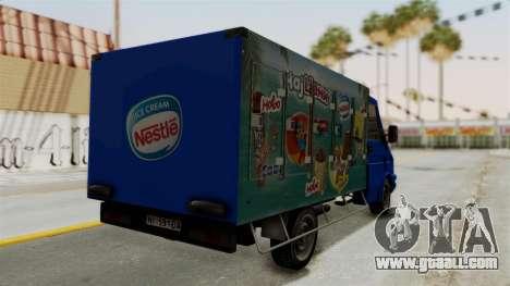 Zastava Rival Ice Cream Truck for GTA San Andreas left view