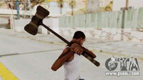 Skyrim Iron Warhammer for GTA San Andreas third screenshot
