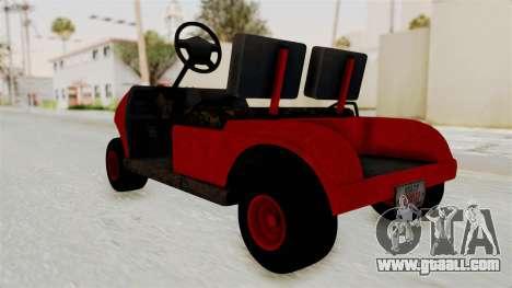 GTA 5 Gambler Caddy Golf Cart for GTA San Andreas right view