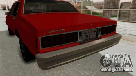 Chevrolet Caprice Classic 1986 v2.0 for GTA San Andreas upper view
