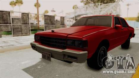 Chevrolet Caprice Classic 1986 v2.0 for GTA San Andreas back left view