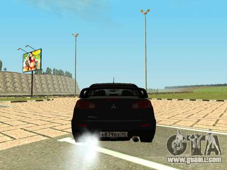 Mitsubishi Lancer Evolution X GVR Tuning for GTA San Andreas back left view