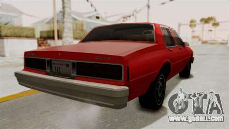 Chevrolet Caprice Classic 1986 v2.0 for GTA San Andreas right view