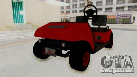 GTA 5 Gambler Caddy Golf Cart for GTA San Andreas
