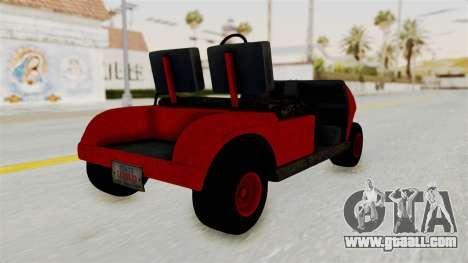 GTA 5 Gambler Caddy Golf Cart for GTA San Andreas left view