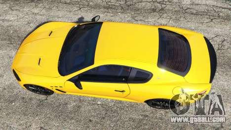GTA 5 Maserati GranTurismo MC Stradale back view