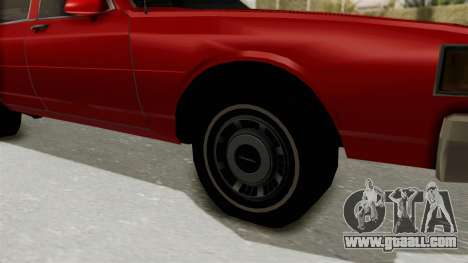 Chevrolet Caprice Classic 1986 v2.0 for GTA San Andreas back view