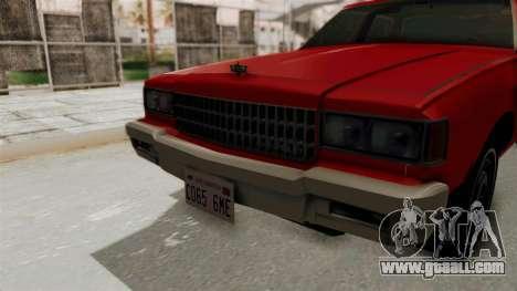 Chevrolet Caprice Classic 1986 v2.0 for GTA San Andreas inner view
