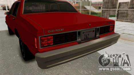 Chevrolet Caprice Classic 1986 v2.0 for GTA San Andreas bottom view