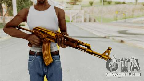 AK-47S Gold for GTA San Andreas third screenshot