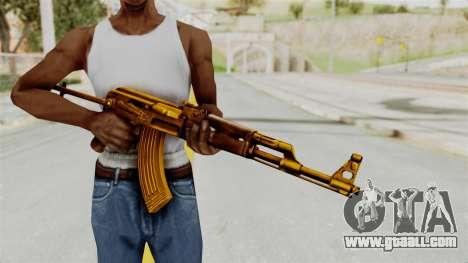 AK-47S Gold for GTA San Andreas third screenshot