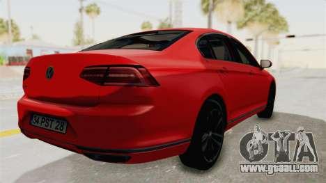 Volkswagen Passat B8 2016 Highline HQLM for GTA San Andreas left view