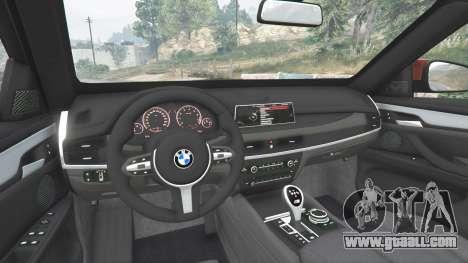 GTA 5 BMW X6 M (F16) v1.6 rear right side view