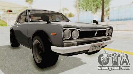 Nissan Skyline KPGC10 1971 for GTA San Andreas right view