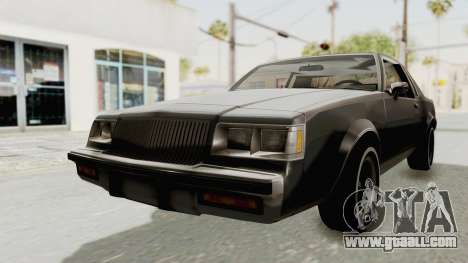 Buick Regal 1986 for GTA San Andreas right view