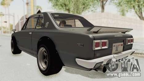 Nissan Skyline KPGC10 1971 for GTA San Andreas left view