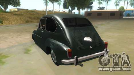 Fiat 600 for GTA San Andreas back left view