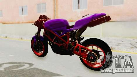 Ducati 1098 Nakedbike for GTA San Andreas back left view