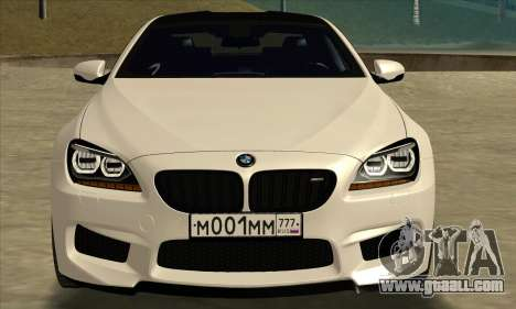 BMW M6 F13 Coupe for GTA San Andreas back left view