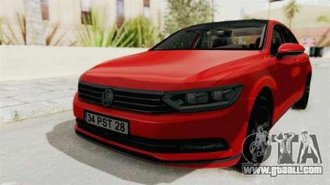 Volkswagen Passat B8 2016 Highline HQLM for GTA San Andreas right view