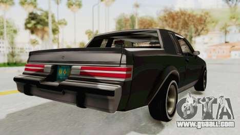 Buick Regal 1986 for GTA San Andreas left view