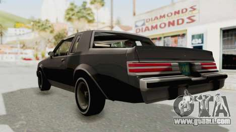Buick Regal 1986 for GTA San Andreas back left view