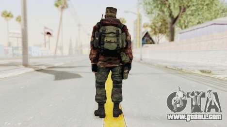 Battery Online Russian Soldier 10 v1 for GTA San Andreas third screenshot