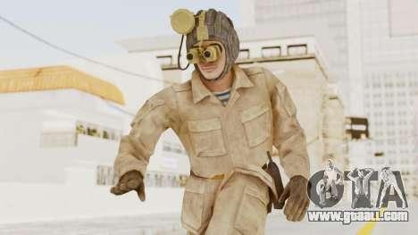 MGSV The Phantom Pain Soviet Union Radioman NVG for GTA San Andreas